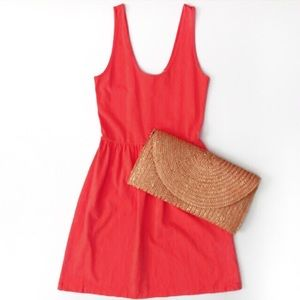 J. Crew Sleeveless Sundress Mini Dress Coral XS